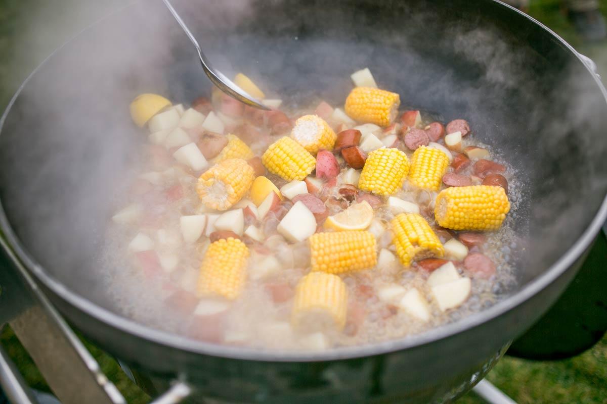 Crazy Kettle shrimp boil step 4
